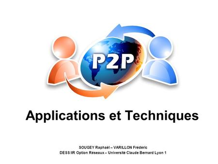 Applications et Techniques