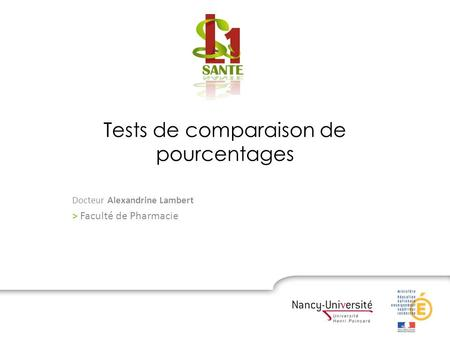 Tests de comparaison de pourcentages