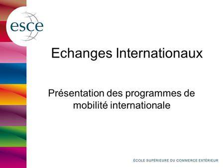 Echanges Internationaux
