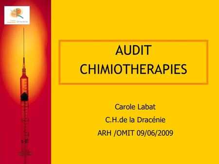 AUDIT CHIMIOTHERAPIES