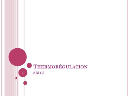 Thermorégulation SBI4U.
