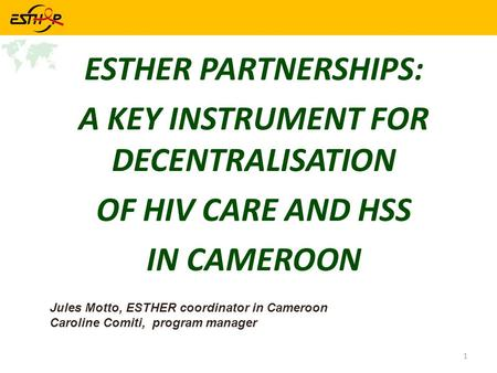 A KEY INSTRUMENT FOR DECENTRALISATION