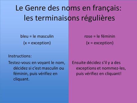 les noms français