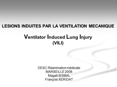 l sions induites par la ventilation m canique ventilator induced lung injury ou vili. Black Bedroom Furniture Sets. Home Design Ideas