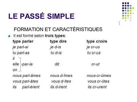 Conjuguer Rencontrer Pass Simple
