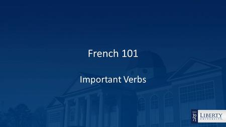 French 101 Important Verbs. The most important French verbs – avoir (to have), être (to be), and faire (to do/make) They are used in some of the ways.