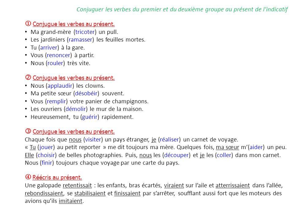 Conjugue Les Verbes Au Present Ppt Video Online Telecharger