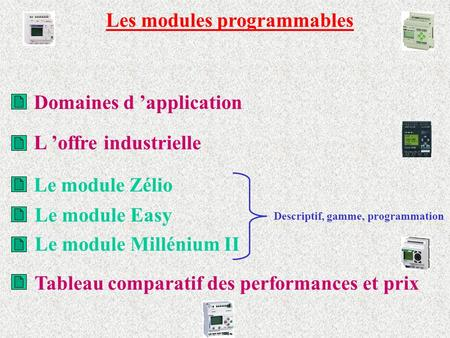 Les modules programmables