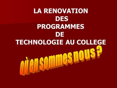 TECHNOLOGIE AU COLLEGE