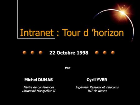 Intranet : Tour d 'horizon