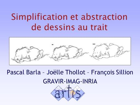 Simplification et abstraction de dessins au trait