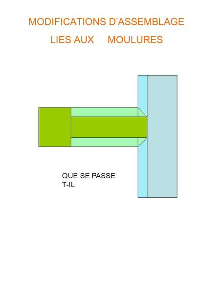 MODIFICATIONS D'ASSEMBLAGE LIES AUX MOULURES