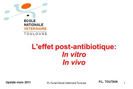 L'effet post-antibiotique: In vitro In vivo