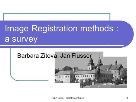 Image Registration methods : a survey