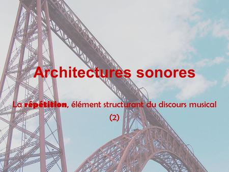 Architectures sonores