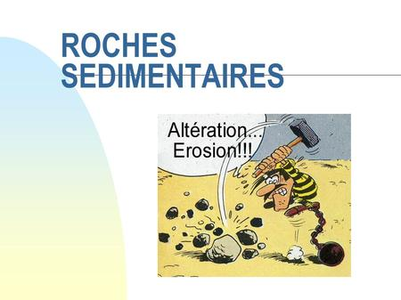 29/05/08 ROCHES SEDIMENTAIRES.
