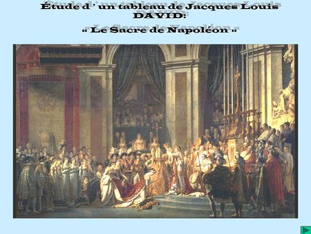 Étude d ' un tableau de Jacques Louis DAVID: