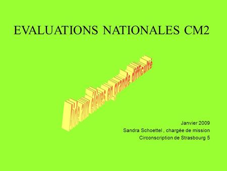 EVALUATIONS NATIONALES CM2