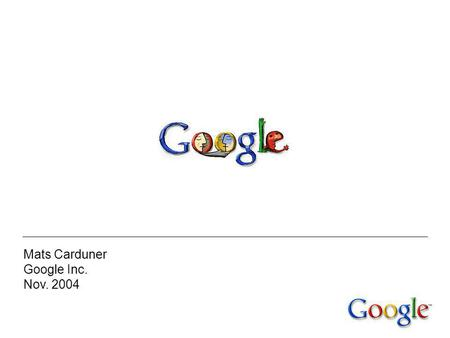 Google inc introduction