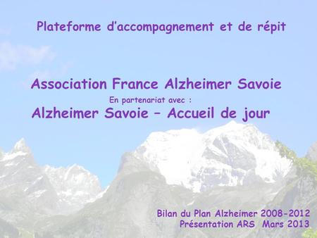Association France Alzheimer Savoie