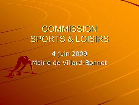 COMMISSION SPORTS & LOISIRS