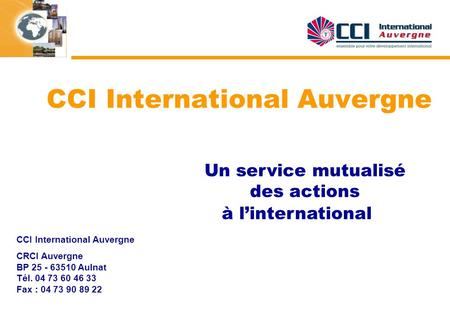 CCI International Auvergne