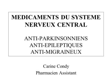 Carine Condy Pharmacien Assistant