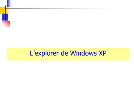 Lexplorer de Windows XP. Lexploreur de Windows Mes disques = Tiroirs ? Lexplorer de Windows Mais, où ai-je rangé ce (fichu) fichier ? Mais quand ai-je.