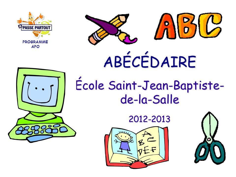 Abecedaire Ecole Saint Jean Baptiste De La Salle Programme Apo Ppt Telecharger