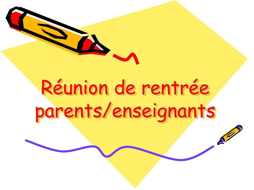 Réunion de rentrée parents/enseignants - ppt video online télécharger