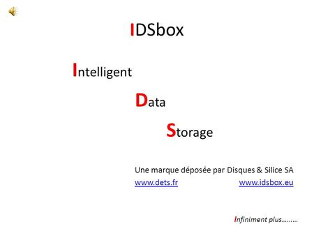 Intelligent Data Storage IDSbox