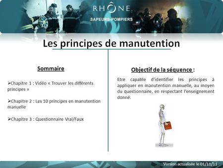 Les principes de manutention