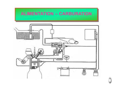 ALIMENTATION – CARBURATION