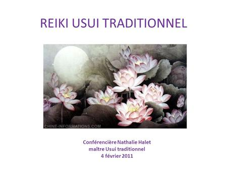 REIKI USUI TRADITIONNEL