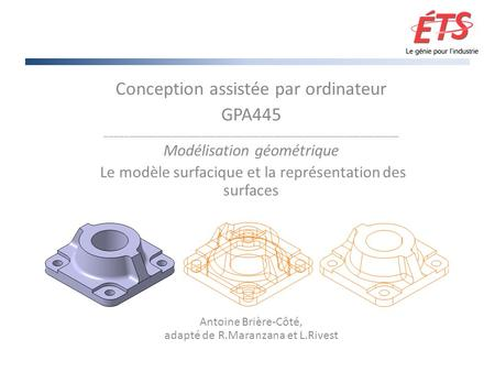 Conception assistée par ordinateur GPA445