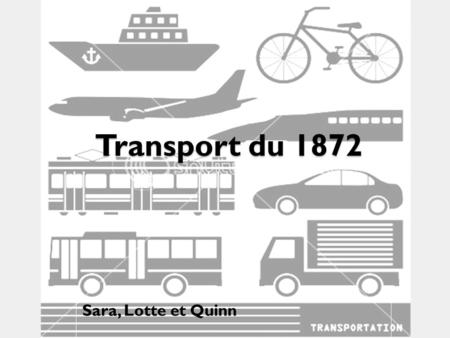 Transport du 1872 Sara, Lotte et Quinn.