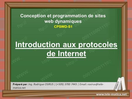 Introduction aux protocoles de Internet