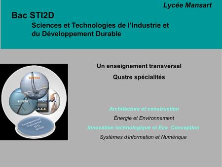 Un enseignement transversal Architecture et construction