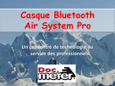 Casque Bluetooth Air System Pro