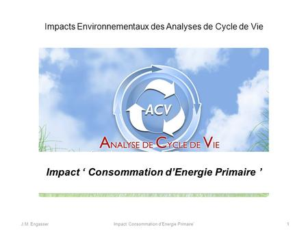 Impact ' Consommation d'Energie Primaire '