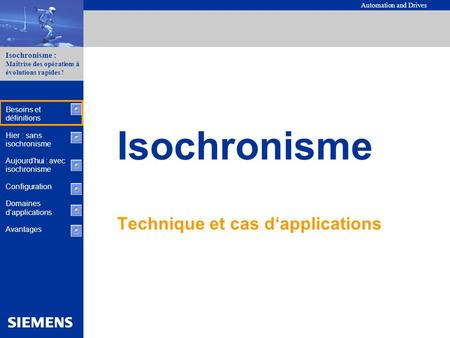 Technique et cas d'applications
