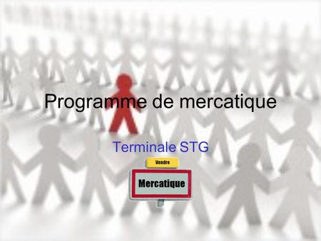 Programme de mercatique