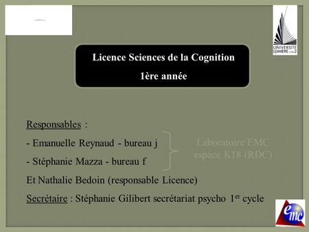Licence Sciences de la Cognition