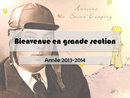 Bienvenue en grande section
