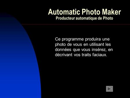 Automatic Photo Maker Producteur automatique de Photo