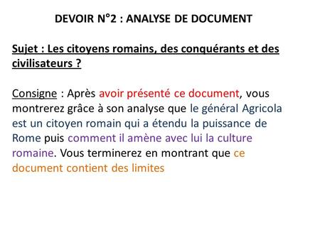 DEVOIR N°2 : ANALYSE DE DOCUMENT