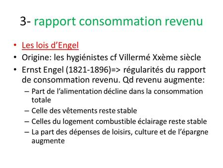 3- rapport consommation revenu