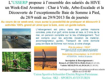 Inscription & Renseignements :