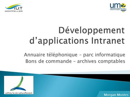 Développement d'applications Intranet