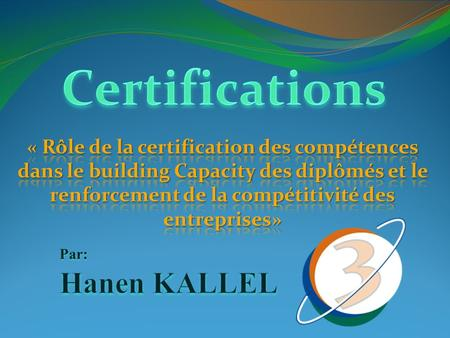 Certifications Hanen KALLEL